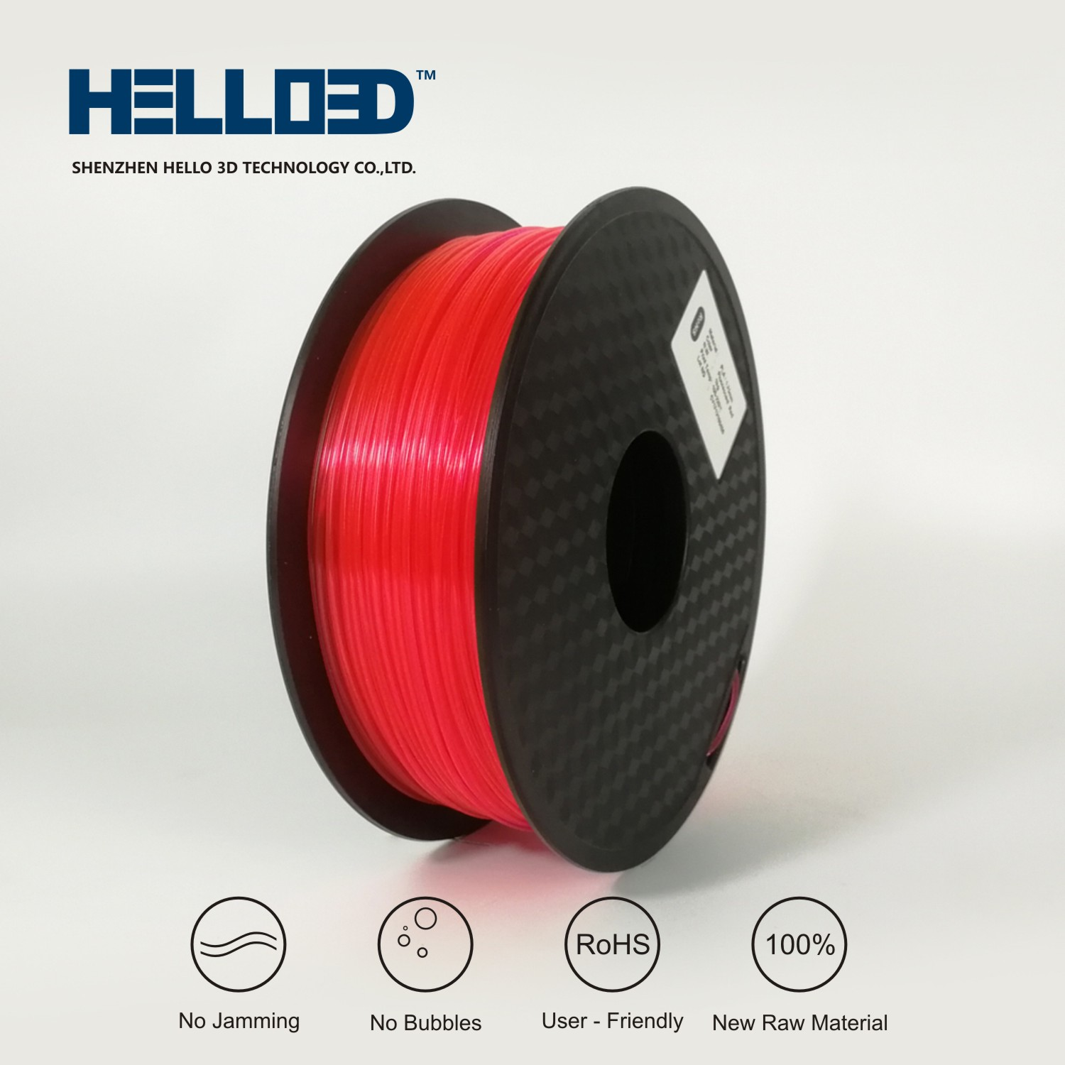 PLA Fluorescent Red