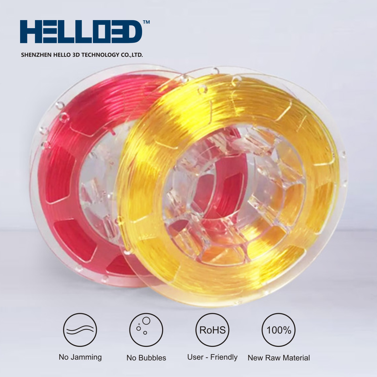 Flexible Transparent Yellow