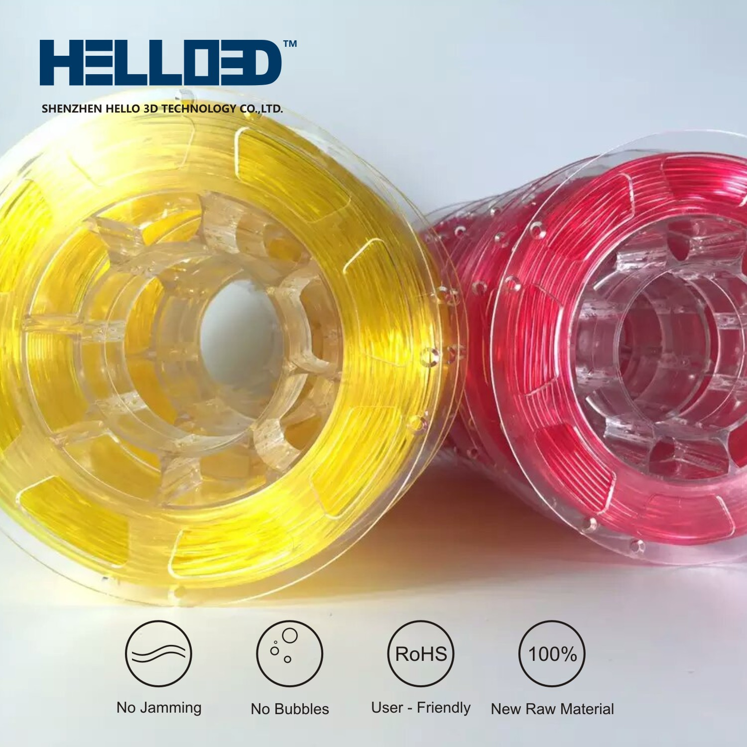 Flexible Transparent Yellow & Red